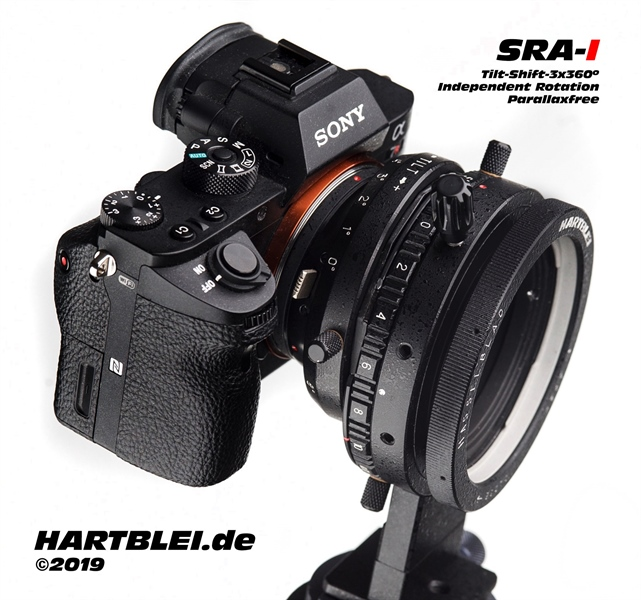New Hartblei SRA-I Superrotator adapter for E-Mount, L-Mount, EOS-R and Nikon-Z.