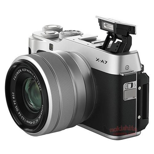 Images of the Fujifilm X-A7 appear