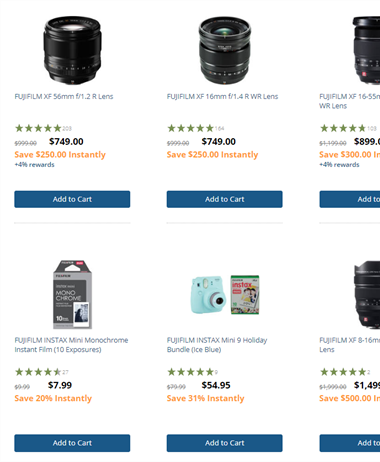Huge sale on Fujifilm gear - save up to $1000