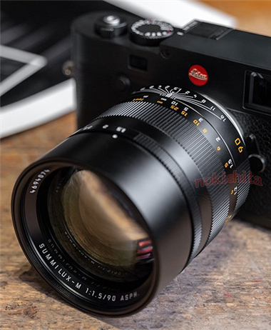 First leaked images of the new Leica 90mm f/1.5 ASPH M-mount lens